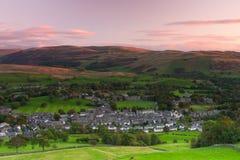 Sedbergh ist eine Kleinstadt und eine Zivilgemeinde in Cumbria, England Lizenzfreies Stockbild