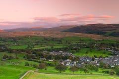 Sedbergh ist eine Kleinstadt und eine Zivilgemeinde in Cumbria, England Lizenzfreie Stockfotos