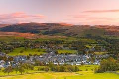 Sedbergh ist eine Kleinstadt und eine Zivilgemeinde in Cumbria, England Lizenzfreie Stockfotografie