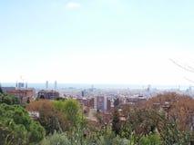 sedd barcelona guellpark royaltyfria foton