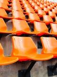 Sede arancione in stadio Immagini Stock Libere da Diritti
