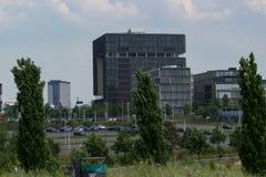 Sede de Krupp en el horizonte imagen de archivo libre de regalías
