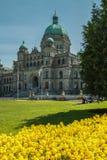 Sede del parlamento in Victoria BC. Immagine Stock