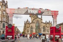 Sede della frangia di Edimburgo Fotografia Stock