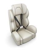 Sede di automobile del bambino su fondo bianco 3d rendono i cilindri di image Immagini Stock
