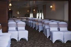 Sede di nozze con disposizione dei posti a sedere Fotografie Stock