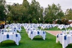 Sede di nozze del campo da golf Fotografie Stock