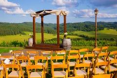 Sede di nozze della cantina dell'Oregon Immagini Stock