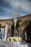 Sede meravigliosamente decorata di nozze Fotografia Stock