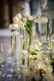Sede meravigliosamente decorata di nozze Fotografie Stock