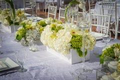 Sede meravigliosamente decorata di nozze Fotografie Stock Libere da Diritti