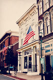 Sede ottimistica di musica e del caffè - Georgetown, Kentucky Fotografia Stock