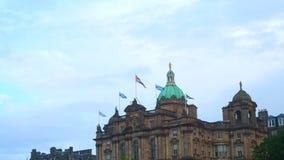 Sede sociale di Lloyds Banking Group, Scozia stock footage