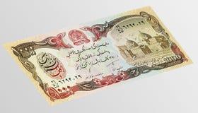 Sedel av den asiatiska afghanien för valuta 1000 Arkivfoto
