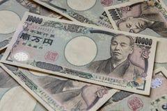 Sedel av den japanska yen ¥10000 Royaltyfria Foton