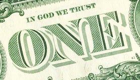 Sedel av ett amerikanskt dollarslut upp arkivbilder