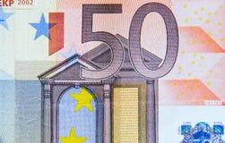 sedel 50-euro Arkivfoto