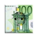 Sedel för Euro 100 Arkivfoto