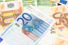 Sedel för euro tjugo Arkivfoton