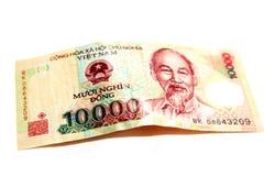 Sedel för 10000 Vietnam Dong Royaltyfria Foton