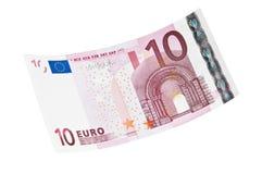 Sedel för Euro 10 Arkivbild