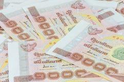 Sedel för thailändsk baht Arkivbilder