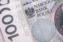 Sedel 100 PLN Arkivbild
