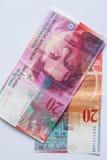Sedel - 20 schweizisk franc Arkivbild
