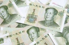 sedel yuan royaltyfria bilder