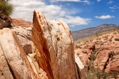 Sedementary rock in Red Rock Canyon Stock Photos