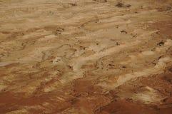 Sedementaryrotsen, de Judaean-Woestijn, Israël Stock Fotografie