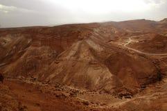 Sedementaryrotsen, de Judaean-Woestijn, Israël Stock Afbeelding