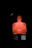 Sedendosi sotto la luna Fotografia Stock Libera da Diritti
