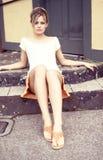 Sedendosi sui punti. 3 Fotografia Stock Libera da Diritti
