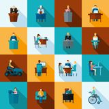 Sedentary Icon Flat Stock Photography