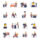 Sedentary Icon Flat Royalty Free Stock Photo