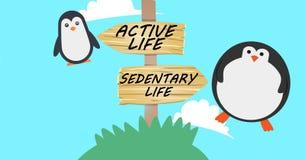Sedentary life vs active life Royalty Free Stock Photo