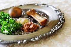 seder плиты еврейской пасхи Стоковая Фотография RF