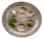 seder плиты еврейской пасхи Стоковое фото RF