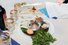 Seder, passover holiday Stock Photos