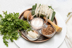 Seder plate, passover Stock Image