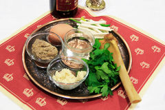 Seder plate vor passover holiday Stock Photography