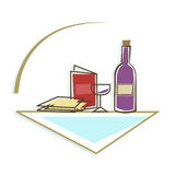 Seder Table Icon Stock Images