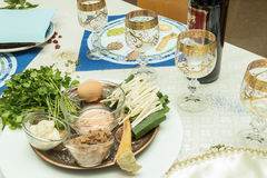 Seder table Stock Photography