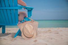 Sedere di lusso della spiaggia fotografia stock