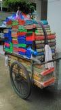 Sedge mat vendors cart Royalty Free Stock Photos