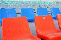 Sedi ad uno stadio Immagini Stock Libere da Diritti