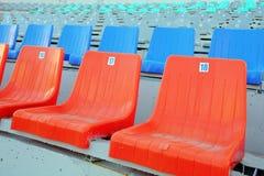 Sedi ad uno stadio Immagini Stock