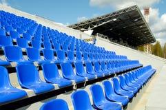 Sedi allo stadio Fotografia Stock