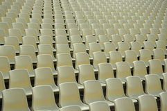 Sedi allo stadio Fotografie Stock Libere da Diritti